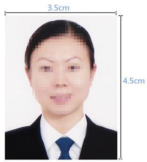 瑞士签证材料照片模版